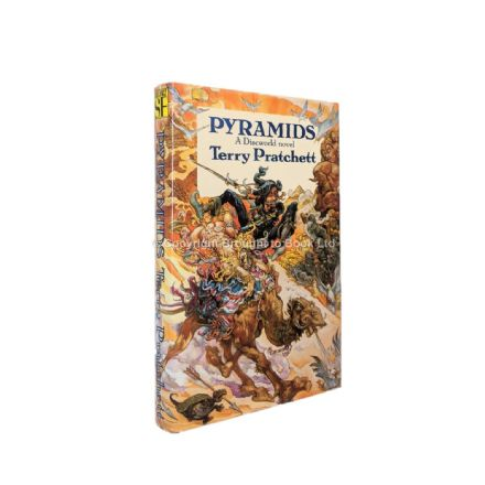 Pyramids Signed by Terry Pratchett First Edition First Impression Victor Gollancz 1989